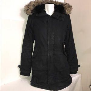 TNA ASPEN Black Maxi Puffer Winter Zip-Up Jacket
